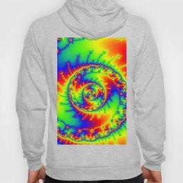 """Psyspiral"" Psychedelic Spiral Fractal Art Hoody"