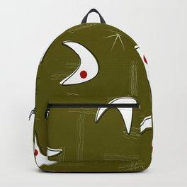 Boomerangs on Green Backpack