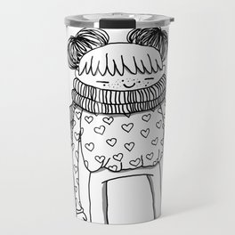 Betty in black and white Travel Mug