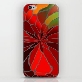 Abstract Poinsettia iPhone Skin