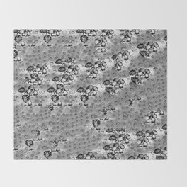 Flowers and Textiles Throw Blanket