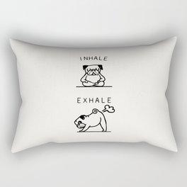 Inhale Exhale Pug Rectangular Pillow