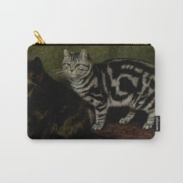 Vintage Short-Haired Cats Painting (1903) Carry-All Pouch
