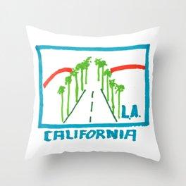 Los Angeles - California Throw Pillow