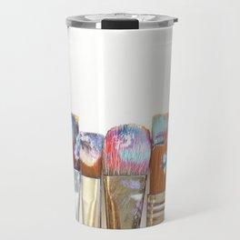 Five Paintbrushes Minimalist Photography Travel Mug