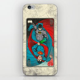 BvS. Vintage Playing Card iPhone Skin