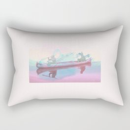 Colourful Canoeing Rectangular Pillow