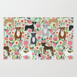 Pitbull florals mixed coats pibble gifts dog breed must have pitbulls florals Rug