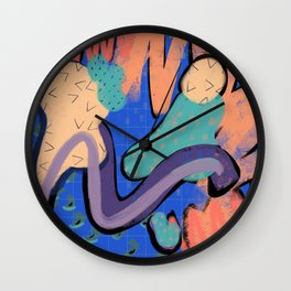 80s mall sign Wall Clock