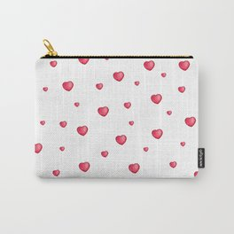 Heart Doodle Watercolor Carry-All Pouch