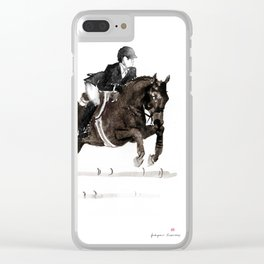 Horse (Jumper II) Clear iPhone Case