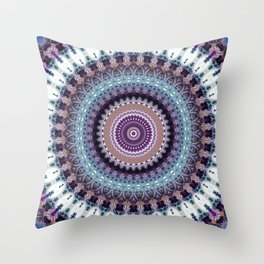 Mandala for Winter Mood Throw Pillow