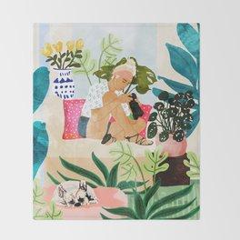 Miss Blogger Throw Blanket
