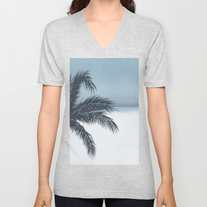 Palm and Ocean Unisex V-Neck