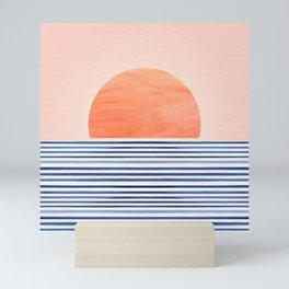 Summer Sunrise - Minimal Abstract Mini Art Print