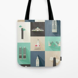 Chicago Landmarks Tote Bag