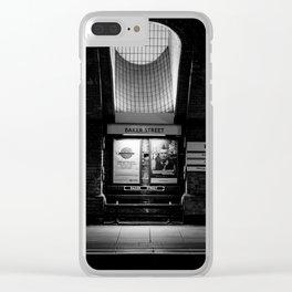 Alight here for Sherlock Holmes - Baker Street Tube Clear iPhone Case