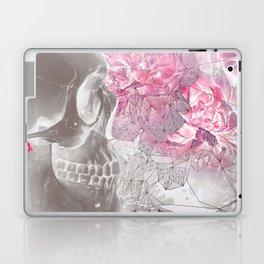 Negative Of Skull And Peonies Laptop & iPad Skin