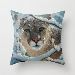 Cougar - Silent Encounter Throw Pillow