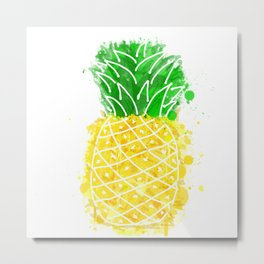 Pineapple Graffiti Metal Print