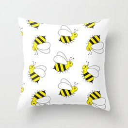 Bumble Bee Pattern Throw Pillow