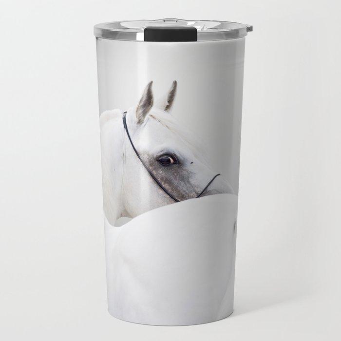 white arabian horse Travel Mug