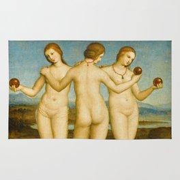 """Raffaello Sanzio da Urbino """"Three Graces"""", circa 1504-1505 Rug"""