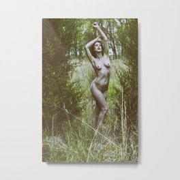 Siren in Nature Metal Print
