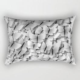 White Butterflies Rectangular Pillow