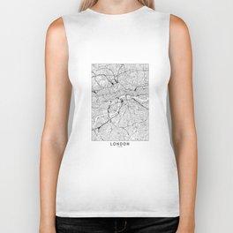 London White Map Biker Tank