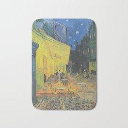 Van Gogh -  The Cafe Terrace on the Place du Forum, Arles, at Night Bath Mat