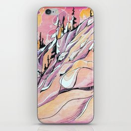 Pink Hour Pillows iPhone Skin