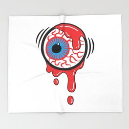Bloody Eyeball Throw Blanket