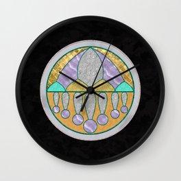 Marbled Medallion Wall Clock