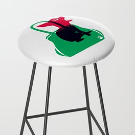 Angry animals: chihuahua - little green bag Bar Stool