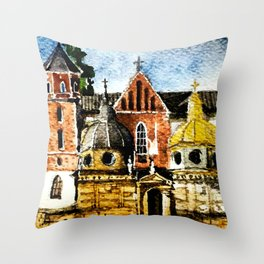 Wawel Throw Pillow