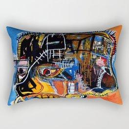cabeza basquiat craneo Rectangular Pillow