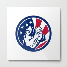 American Gym Circuit USA Flag Icon Metal Print
