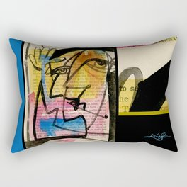 """Funky Face Abstract, """"I See 32"""" by Kathy morton Stanion Rectangular Pillow"""