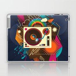 Goodtime Party Music Retro Rainbow Turntable Graphic Laptop & iPad Skin