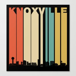 Vintage 1970's Style Knoxville Tennessee Skyline Canvas Print