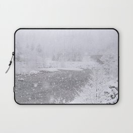 Light Snowfall Laptop Sleeve
