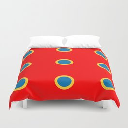 Dotted in Red Duvet Cover