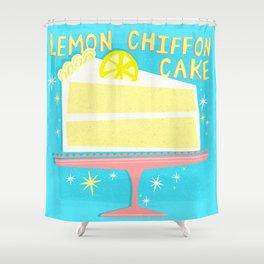 All American Classic Lemon Chiffon Cake Shower Curtain
