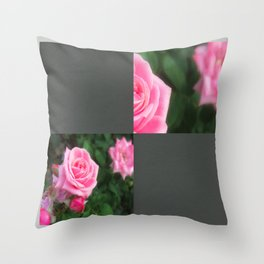 Pink Roses in Anzures 1 Blank Q6F0 Throw Pillow