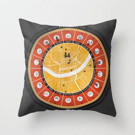 Cincinnati Drinking Guide Throw Pillow