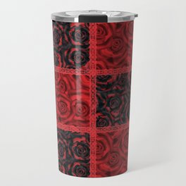 Patchwork . Roses are red. Travel Mug