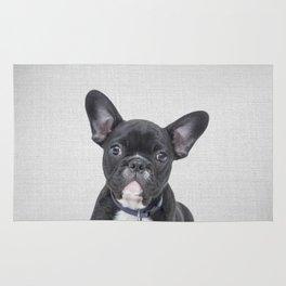 Bulldog Puppy - Colorful Rug
