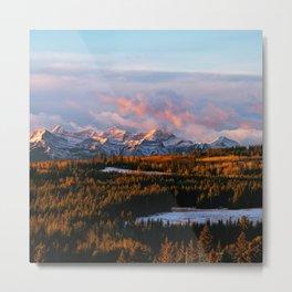 Sunrise in the Rockies Metal Print