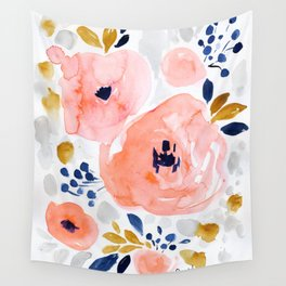 Genevieve Floral Wall Tapestry